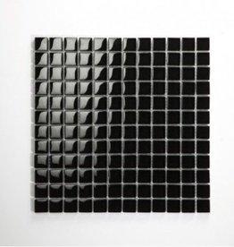 Nero Black szklana mozaiki 1. wybór w 30x30x1 cm
