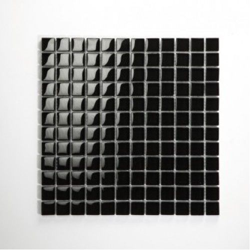 Nero Black glas mosaic tiles