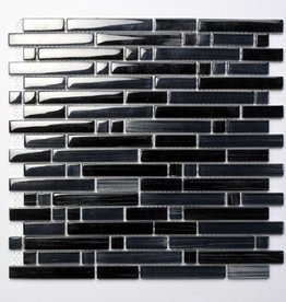 Palermo Black glas mosaic tiles 1. Choice in 30x30x1 cm