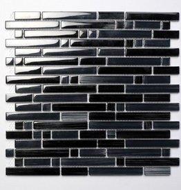 Palermo Black Glas Mozaïek Tegels 1. Keuz in 30x30x1 cm