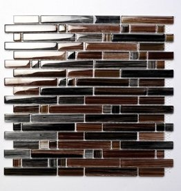 Palermo Brown szklana mozaiki 1. wybór w 30x30x1 cm