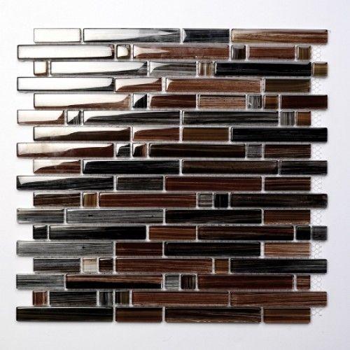 Palermo Brown glas mosaic tiles