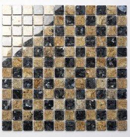 Blue Pearl Kashmir Gold kamienia naturalnego mozaiki 1. wybór w 30x30x1 cm
