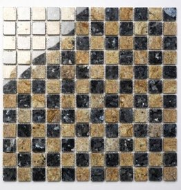 Blue Pearl Kashmir White Natural stone mosaic tiles 1. Choice in 30x30x1 cm