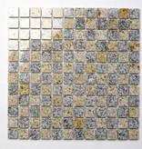 Padang Cristal Yellow Natuursteen Mozaïek Tegels
