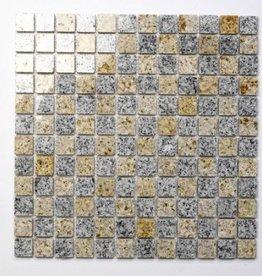 Padang Cristal Yellow naturelle Mosaïque Carrelage 1. Choice dans 30x30x1 cm