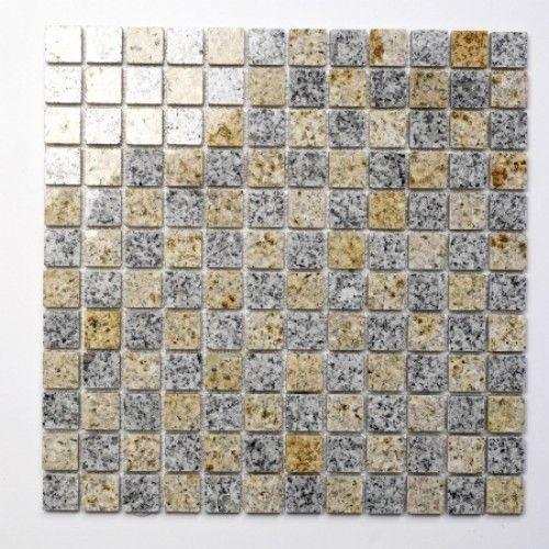 Padang Cristal Gelb Naturstein Mosaikfliesen