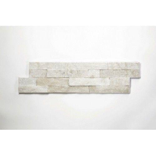 Brickstone Weiß Quarzit Naturstein Verblender Wandverblender