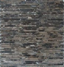 Superslim Emperador Natural stone mosaic tiles 1. Choice in 30x30x1 cm