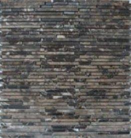 Superslim Emperador Naturstein Mosaikfliesen 1.Wahl in 30x30 cm