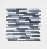 Nero kamienia naturalnego mozaiki