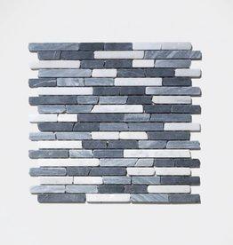 Nero pierre naturelle Mosaïque Carrelage 1. Choice dans 30x30x1 cm