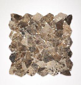 Castanao kamienia naturalnego mozaiki 1 wybór w 30x30x1 cm