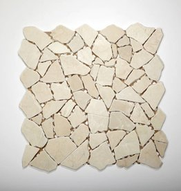 Biancone Natural stone mosaic tiles 1. Choice in 30x30x1 cm