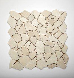 Biancone pierre naturelle Mosaïque Carrelage 1. Choice dans 30x30x1 cm