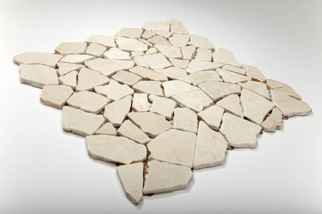 Biancone pierre naturelle Mosaïque Carrelage