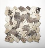 Castanao Cream pierre naturelle Mosaïque Carrelage