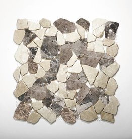Castanao Cream Natural stone mosaic tiles 1. Choice in 30x30x1 cm