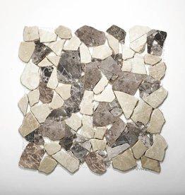 Castanao Cream pierre naturelle Mosaïque Carrelage 1. Choice dans 30x30x1 cm