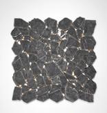 Nero Marquina kamienia naturalnego mozaiki