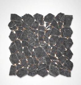 Nero Marquina pierre naturelle Mosaïque Carrelage 1.Choice dans 30x30x1 cm