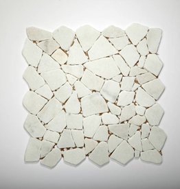 Bianco Carrara Natural stone mosaic tiles 1. Choice in 30x30x1 cm