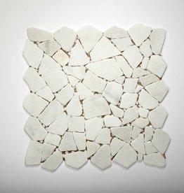 Bianco Carrara Naturstein Mosaikfliesen 1.Wahl in 30x30 cm