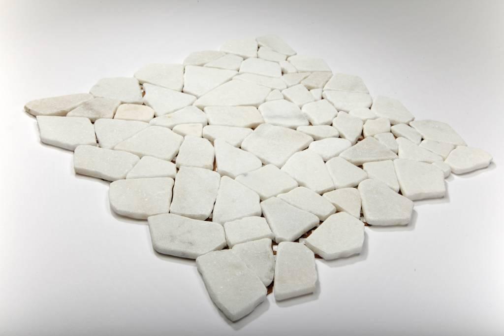 Bianco Carrara pierre naturelle Mosaïque Carrelage