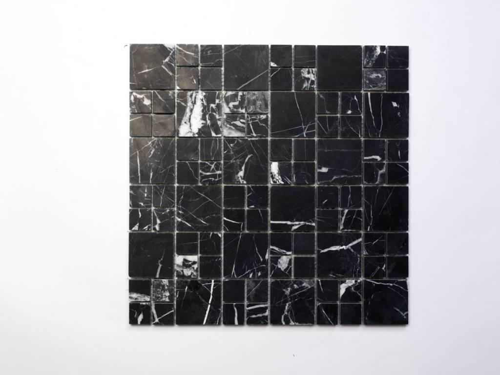 Elegance noir pierre naturelle Mosaïque Carrelage