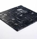 Elegancja czarny kamienia naturalnego mozaiki