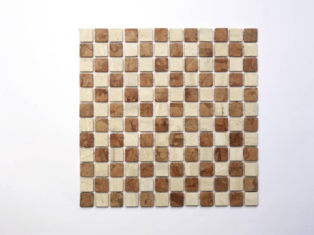 Travertino Rosso Naturstein Mosaikfliesen