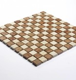 Travertino Rosso kamienia naturalnego mozaiki