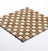 Travertino Rosso Natural stone mosaic tiles