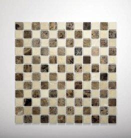 Florence Natuursteen Mozaïek Tegels 1. Keuz in 30x30x1 cm