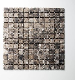 Emperador Natural stone mosaic tiles 1. Choice in 30x30x1 cm