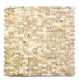 Minibricks Beige pierre naturelle Mosaïque Carrelage 1. Choice dans 30x30x1 cm