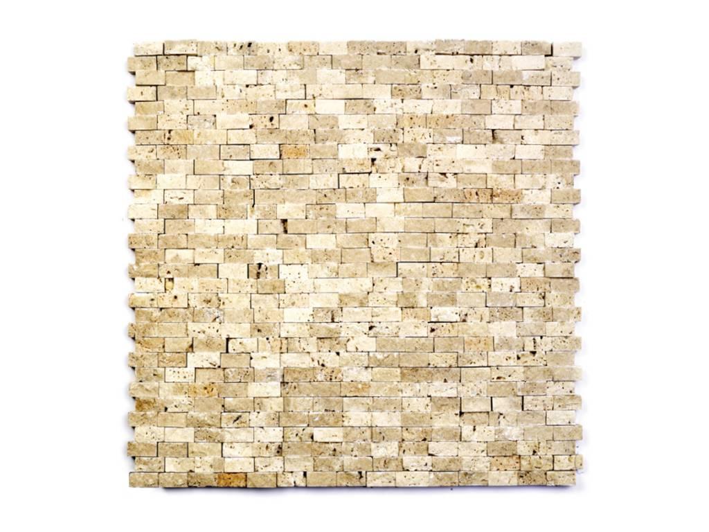 Minibricks Beige Naturstein Mosaikfliesen