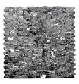 Minibricks Nero Natuursteen Mozaïek Tegels 1. Keuz in 30x30x1 cm