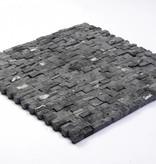 Minibricks Nero pierre naturelle Mosaïque Carrelage