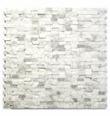 Minibricks Bianco Naturstein Mosaikfliesen
