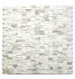 Minibricks Bianco Natuursteen Mozaïek Tegels 1. Keuz in 30x30x1 cm