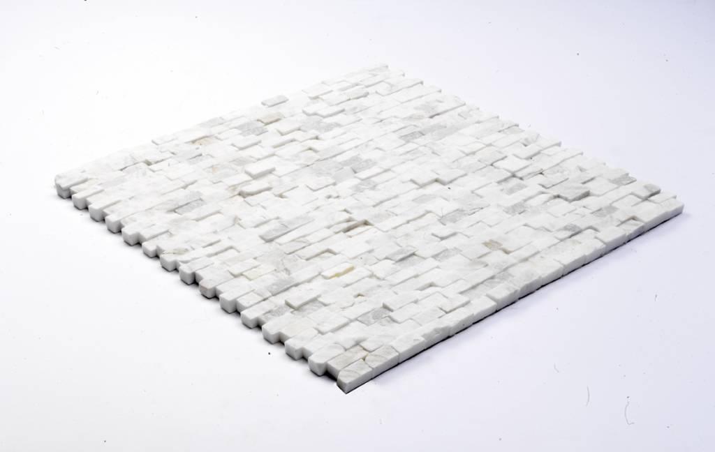Minibricks Bianco Natuursteen Mozaïek Tegels