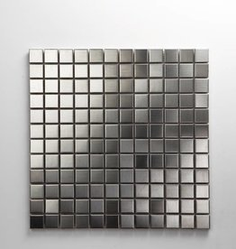 Iron Acier Inoxydable Metal Mosaïque Carrelage, 1. Choice, 2,3x2,3 dans 30x30x1 cm