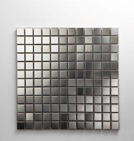 Iron Roestvrij Metaal Mozaïek Tegels, 1. Keuz, 2,3x2,3 in 30x30x1 cm