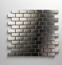 Iron Edelstahl Metall Mosaikfliesen 2,3x4,8 1.Wahl Premium Qualität in 30x30 cm