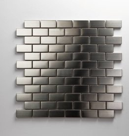 Iron Stainless Matal mosaic tiles, 1. Choice, 2,3x4,8 in 30x30x1 cm