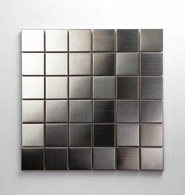 Iron Roestvrij Metaal Mozaïek Tegels, 1. Keuz, 4,8x4,8 in 30x30x1 cm