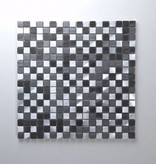 Novo Schwarz Metall Mosaikfliesen