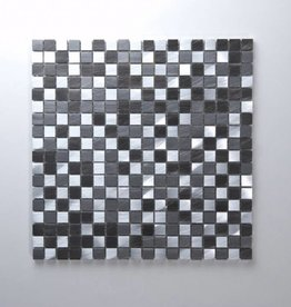 Novo Black Matal mosaic tiles 1. Choice in 30x30x1 cm