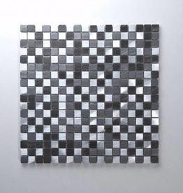 Novo Black Metaal Mozaïek Tegels 1. Keuz in 30x30x1 cm